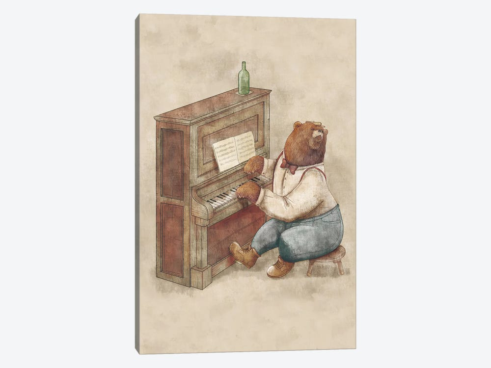 The Pianist by Mike Koubou 1-piece Canvas Artwork