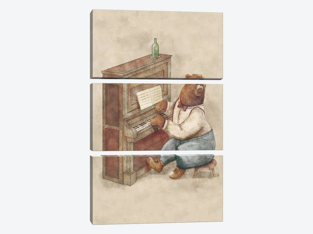 The Pianist by Mike Koubou 3-piece Canvas Artwork