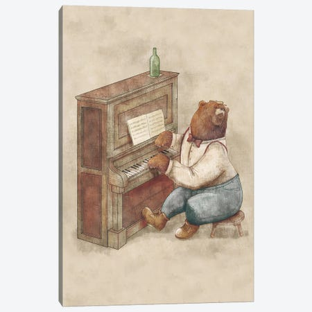The Pianist Canvas Print #MKB67} by Mike Koubou Canvas Art