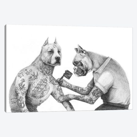 The Tattooist Canvas Print #MKB68} by Mike Koubou Canvas Print