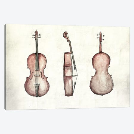 Cello Canvas Print #MKB6} by Mike Koubou Canvas Artwork