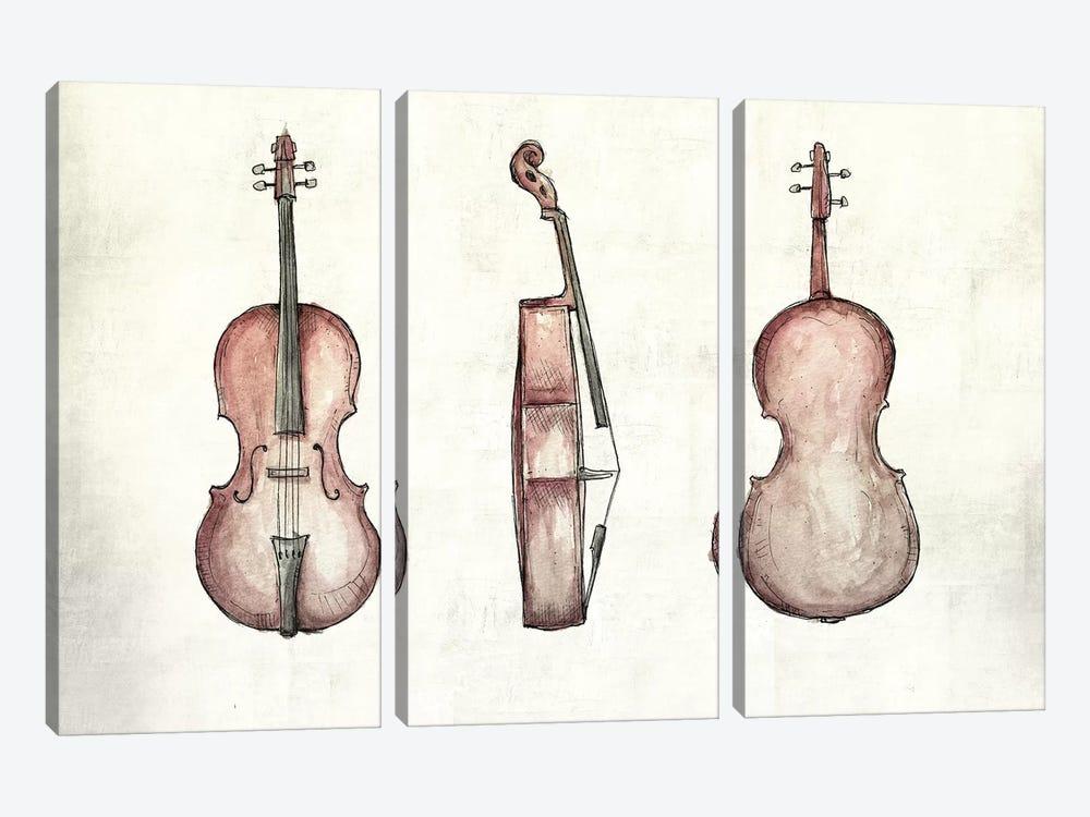 Cello by Mike Koubou 3-piece Canvas Print