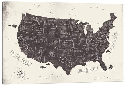 USA Canvas Art Print