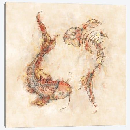 Yin Yang Fish Canvas Print #MKB77} by Mike Koubou Art Print