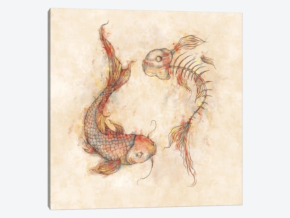 Yin Yang Fish by Mike Koubou 1-piece Art Print