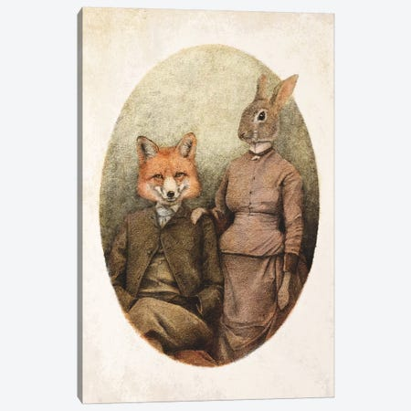 The Foxes II Canvas Print #MKB86} by Mike Koubou Canvas Artwork