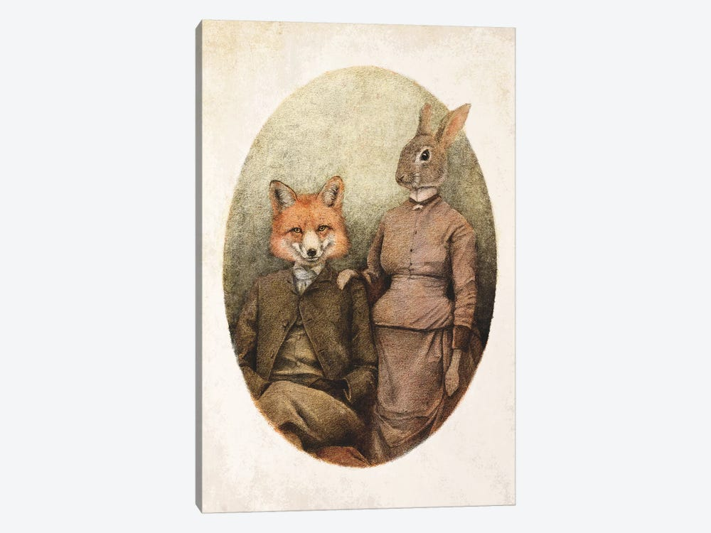 The Foxes II by Mike Koubou 1-piece Canvas Print