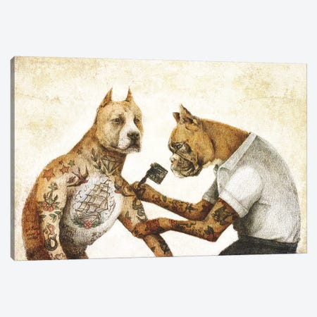 The Tattooist II Canvas Print #MKB87} by Mike Koubou Canvas Art