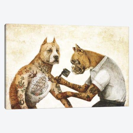 The Tattooist II Canvas Print #MKB87} by Mike Koubou Canvas Art