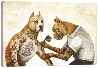 The Tattooist II Canvas Art Print