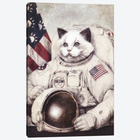 Meow Out Of Space Canvas Print #MKB88} by Mike Koubou Art Print