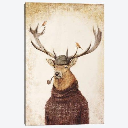 Thinking Wild Canvas Print #MKB94} by Mike Koubou Art Print