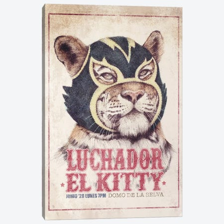 El Kitty Canvas Print #MKB95} by Mike Koubou Canvas Print