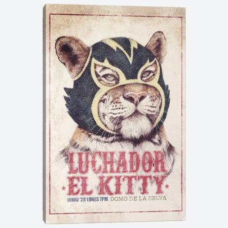 El Kitty Canvas Print #MKB95} by Mike Koubou Canvas Print