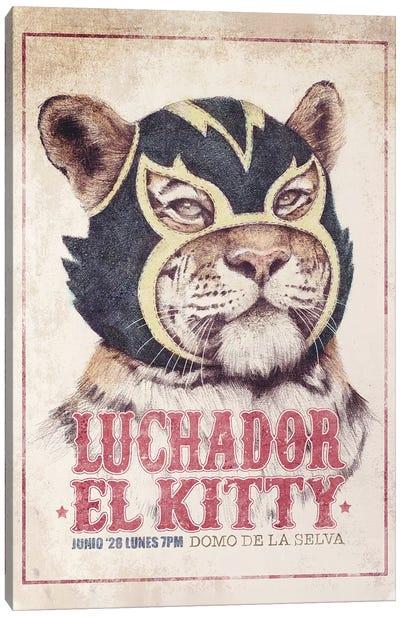 El Kitty Canvas Art Print