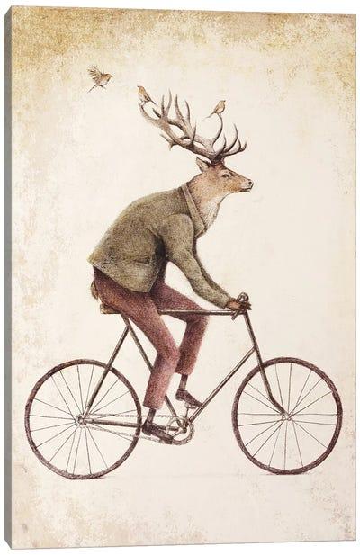 Even A Gentleman Rides II Canvas Art Print