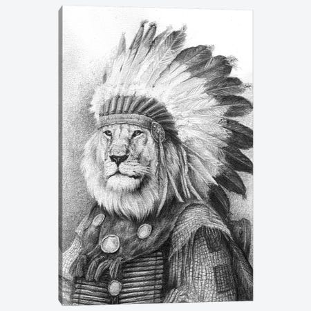 Chief Canvas Print #MKB9} by Mike Koubou Canvas Print