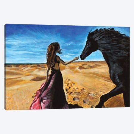 Woman In A Desert Canvas Print #MKC12} by Mila Kochneva Canvas Print