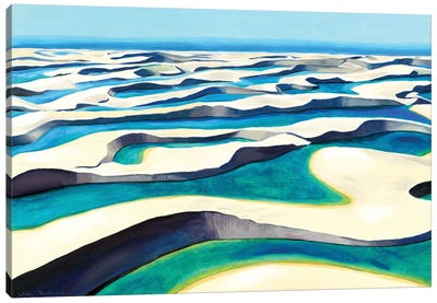 The Magical Desert II - Lencois Maranhenses Canvas Art Print