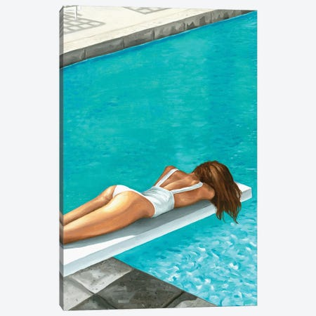 By The Swimming Pool Canvas Print #MKC15} by Mila Kochneva Canvas Wall Art