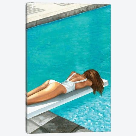 By The Swimming Pool Canvas Print #MKC15} by Mila Kochneva Canvas Wall Art