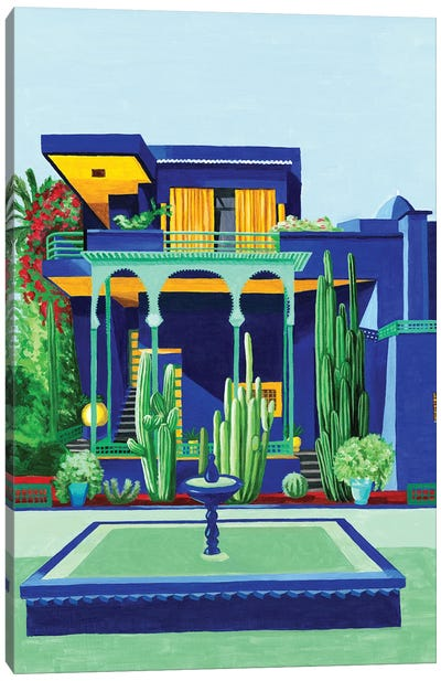 Yves Saint Laurent IV. Villa Oasis Canvas Art Print