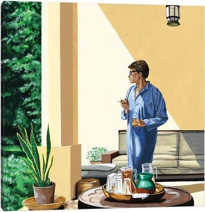 Mr. Yves Saint Laurent VII. Morning Routine Canvas Art Print