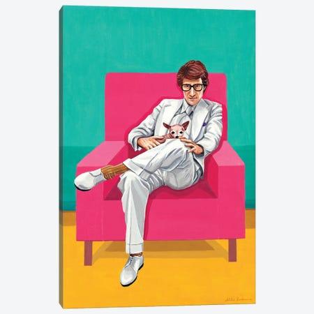 Mr. Yves Saint Laurent VI. The Man In An Armchair Canvas Print #MKC19} by Mila Kochneva Canvas Art Print