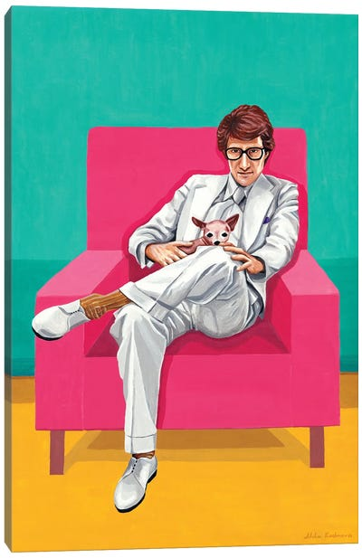 Mr. Yves Saint Laurent VI. The Man In An Armchair Canvas Art Print