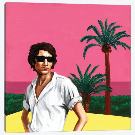 Mr. Yves Saint Laurent I. Pink Sunset Canvas Print #MKC20} by Mila Kochneva Canvas Wall Art
