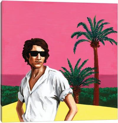 Mr. Yves Saint Laurent I. Pink Sunset Canvas Art Print
