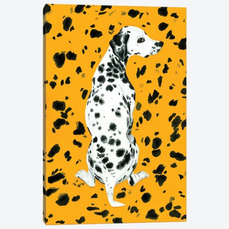 Dalmatian Dog On Yellow Background Canvas Print #MKC22} by Mila Kochneva Canvas Art