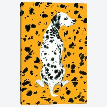 Dalmatian Dog On Yellow Background Canvas Print #MKC22} by Mila Kochneva Canvas Art