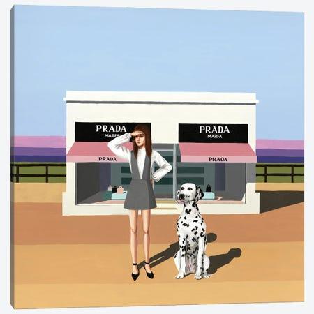 Fashionista. Prada Marfa, Texas Canvas Print #MKC25} by Mila Kochneva Art Print