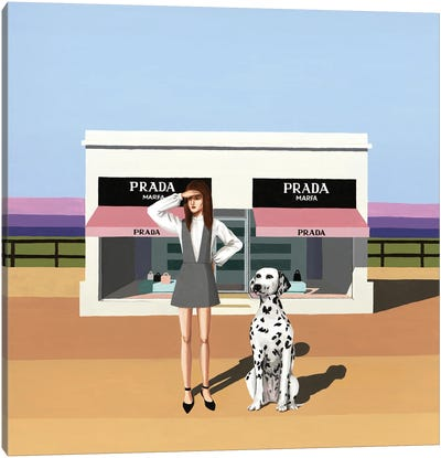 Fashionista. Prada Marfa, Texas Canvas Art Print
