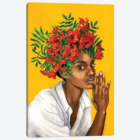 Girl With Rowanberry Canvas Print #MKC8} by Mila Kochneva Canvas Wall Art