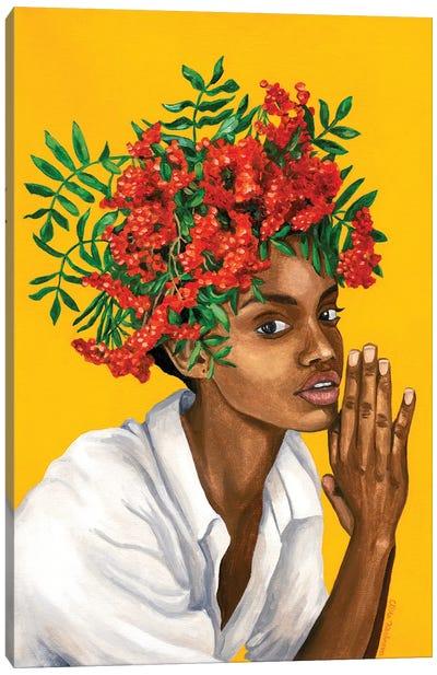 Girl With Rowanberry Canvas Art Print