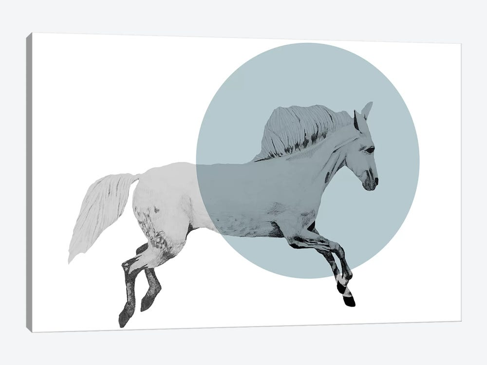 White Horse 1-piece Art Print