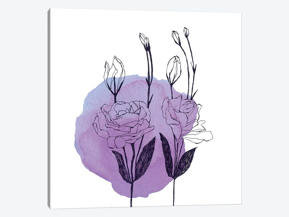 Lisianthus by Morgan Kendall 1-piece Canvas Art