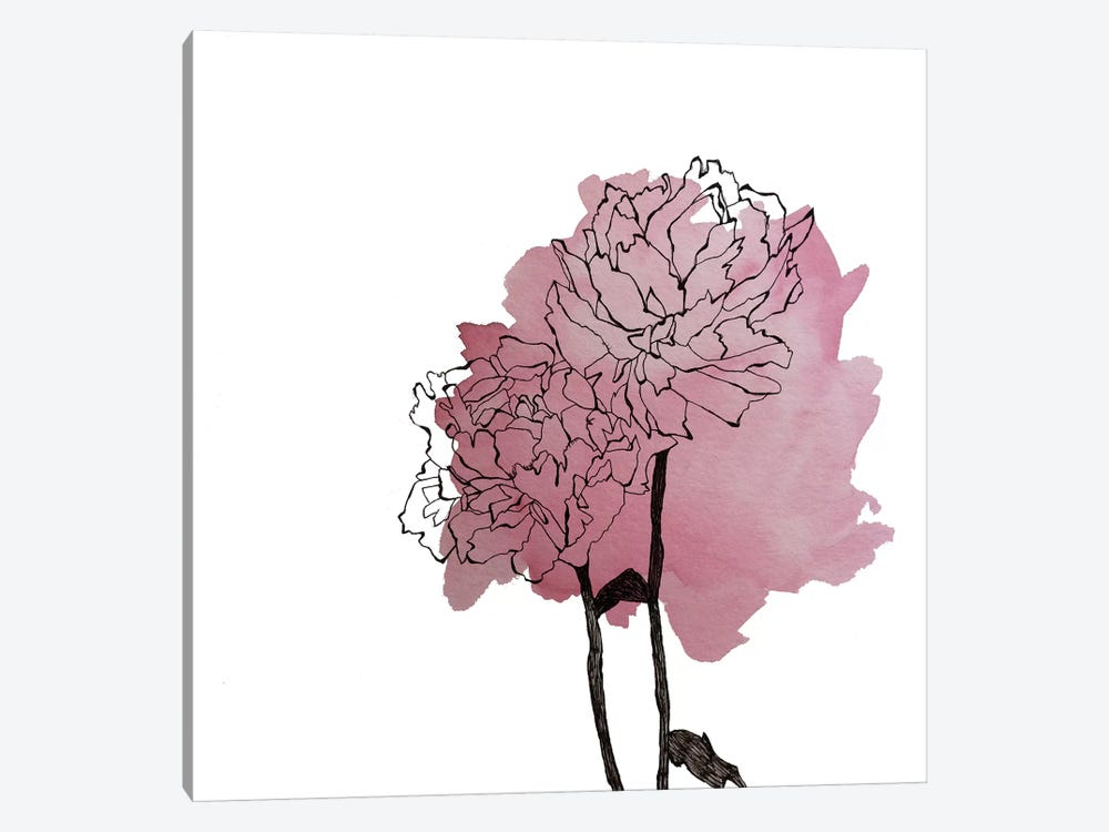 Peonies II 1-piece Canvas Artwork