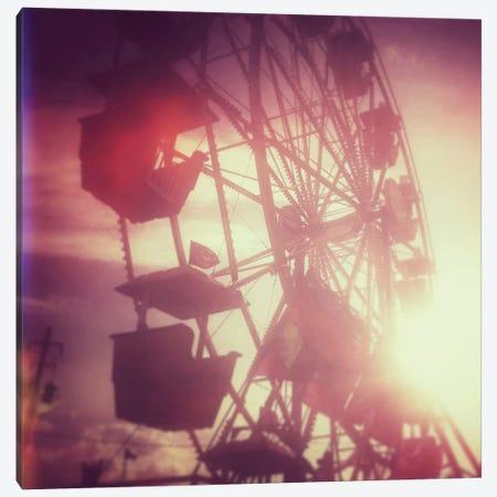 Pink Ferris Wheel Canvas Print #MKE10} by Morgan Kendall Art Print