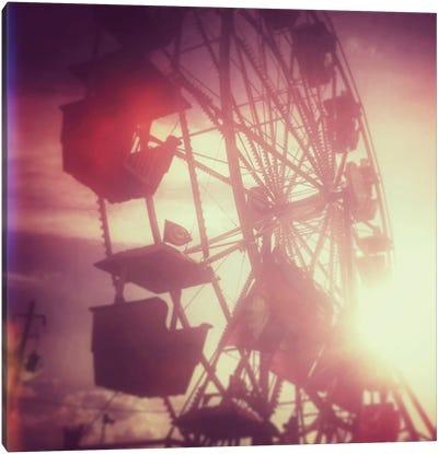 Pink Ferris Wheel Canvas Art Print