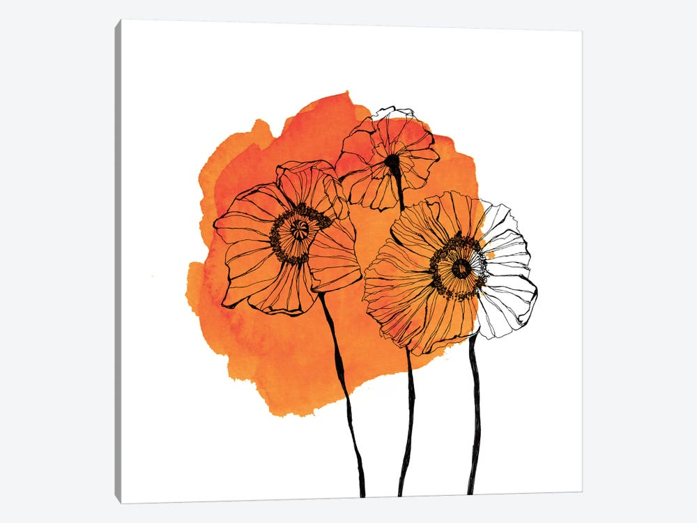 Poppies by Morgan Kendall 1-piece Canvas Wall Art