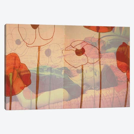 Poppies Will Make Them Sleep 3-Piece Canvas #MKE20} by Morgan Kendall Canvas Artwork
