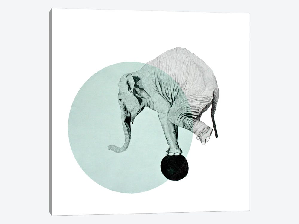Elephant by Morgan Kendall 1-piece Canvas Artwork