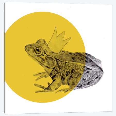 Frog Prince Canvas Print #MKE68} by Morgan Kendall Canvas Art