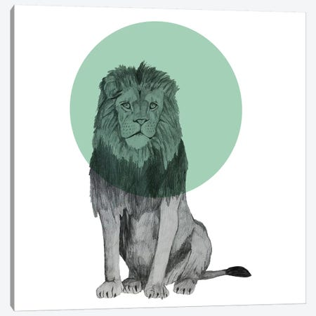 Sitting Lion Canvas Print #MKE97} by Morgan Kendall Canvas Wall Art