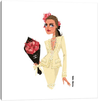 Chanel Lady Canvas Art Print