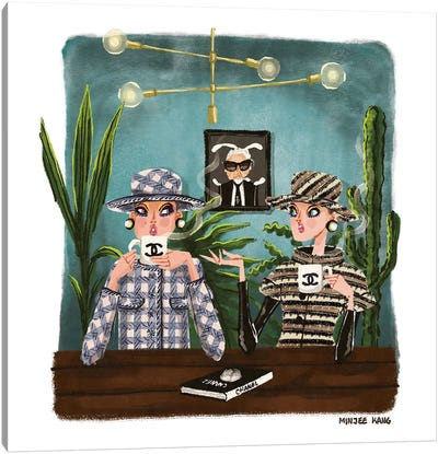 Chanel Talk Canvas Art Print