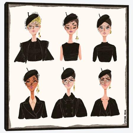 Dior Faces Canvas Print #MKG15} by Minjee Kang Canvas Wall Art